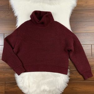 Madewell Side Button Boxy Turtleneck Sweater K5807